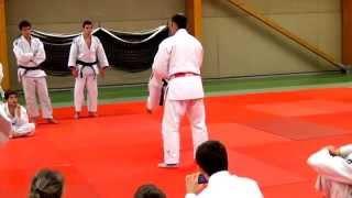 Frédéric Demontfaucon à Luc sur mer ( stage de judo ).