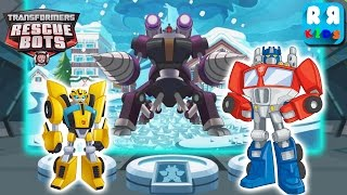 Transformers Rescue Bots: Disaster Dash - Rescue Ice Strom with Optimus Prime and Bumblebee