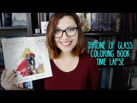 Throne of Glass Coloring Book Time Lapse.