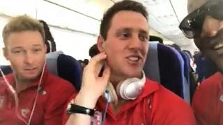IPL 2017 KXIP team having fun in flight || viral video have fun ||