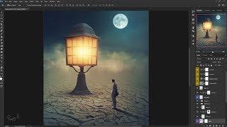 Photoshop Manipulation Tutorial The Light Processing