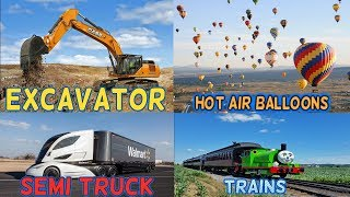 Learn Vehicles Names and Sounds for Kids | Transport and Vehicles for Children | Cars and Trucks