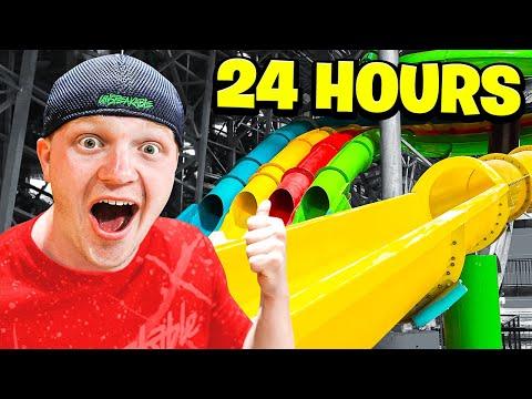 24 HOUR OVERNIGHT WATERPARK CHALLENGE