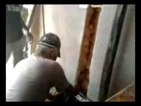 pedreiro cagao escourou a lage com tijolinho
