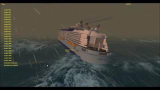 Harmony of the Seas VS Poseidon challenging the typhoon with rough waves