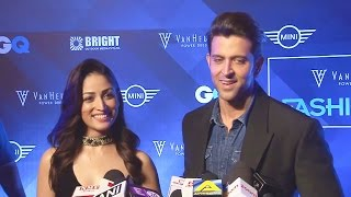 Hrithik Roshan & Yami Gautam At GQ Fashion Nights 2016