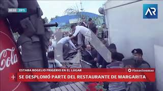 """Así se desplomó parte del restaurante de Margarita Barrientos en plena """"inauguración"""""""