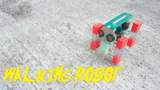 how to make a simple 4 legged walking robot