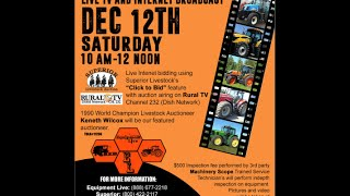 Farm Machinery Auction on Live TV December 12, 2015