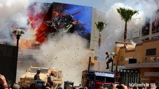 [HD] Action Packed Transformers the Ride Live Show at Universal Studios Hollywood