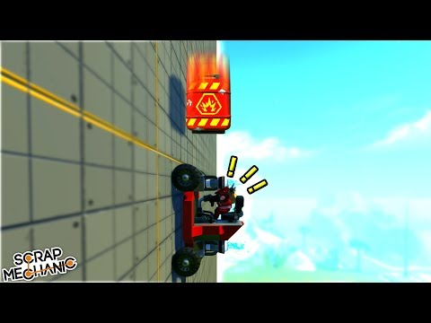 Try Not to EXPLODE Wall Climber Challenge Scrap Mechanic Multiplayer Monday