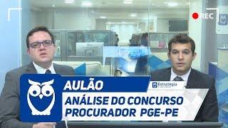 Concurso PGE-PE: Análise do Concurso Procurador