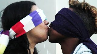 Strangers Kiss Blindfolded And Make Guesses About Each Other