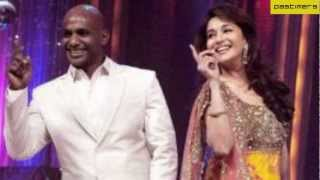 Sanath Jayasuriya Dancing Steps With Madhuri Dixit