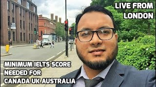 What is the IELTS score required for Canada 🇨🇦 UK 🇬🇧 Australia 🇦🇺 New Zealand 🇳🇿?