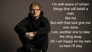 Ed Sheeran Eraser Lyrics
