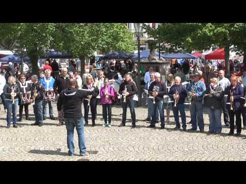 Fanfarenzug Plockhorst alte Besetzung Flashmob in Peine 2015