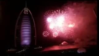 عروض مدهشة  في برج العرب احتفالا بالعام الجديد