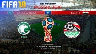 FIFA 18 World Cup - Saudi Arabia vs. Egypt @ Volgograd Arena (Group A)