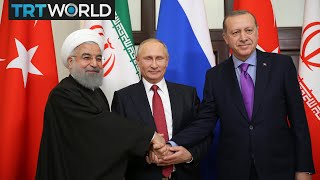 Leaders of Turkey, Iran and Russia address press conference in Sochi