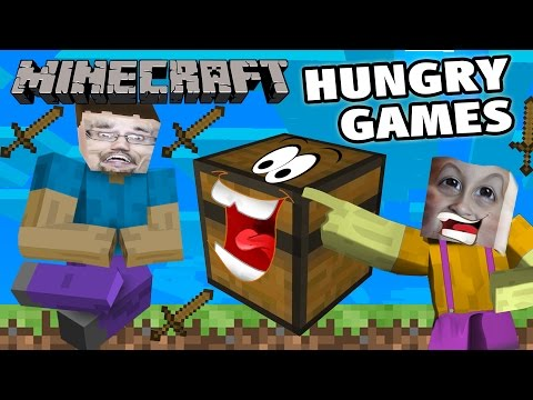 Mikes' Minecraft Hungry Games w/ Dad! (Who Needs A Sword!) The Unfair Pocket Edition Version