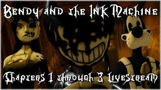 RoxasXIIIkeys plays: Bendy and the Ink Machine LIVESTREAM | Indie Horror Game of the Year!