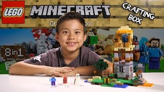 LEGO MINECRAFT - Set 21116 CRAFTING BOX- Unboxing, Review, Time-Lapse Build