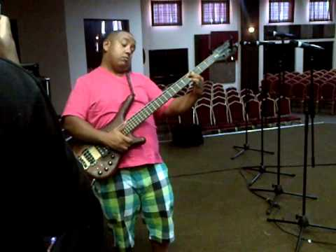Morne Brainers doing sound check at the Anointed Worship SA Live recording
