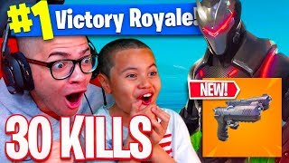 *NEW* DUAL WIELDED PISTOLS IS OVERPOWERED! *NEW* PLAYGROUND IS HERE? 9 YEAR OLD KID FORTNITE BR! 🔥
