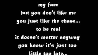 Jojo-Too little too late [Lyrics]