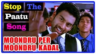 Moondru Per Moondru Kaadhal Tamil Movie | Songs | Stop The Paatu Song | Arjun met with accident