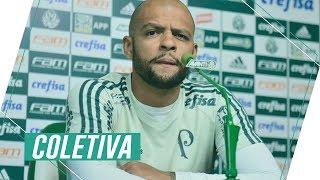 Entrevista coletiva do meia Felipe Melo