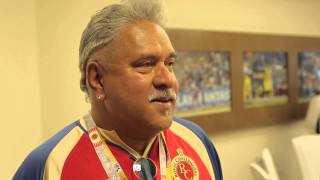 An ecstatic Dr Vijay Mallya after RCB's emphatic win over MI