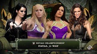 WWE Divas Championship 4 Way Match, Pauline vs Camille vs Paige vs Stephanie McMahon [WWE 2K16]