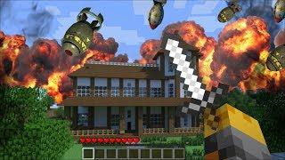 Minecraft NUKE MOD / DESTROY AND SURVIVE WORLD APOCALYPSE WITH NUKES!! Minecraft
