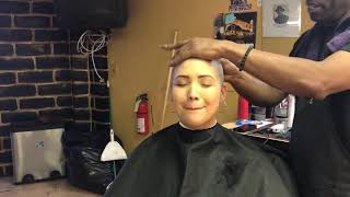 TA77.net YouTube Original - Candice LV (2018) She shaves her head bald with a razor