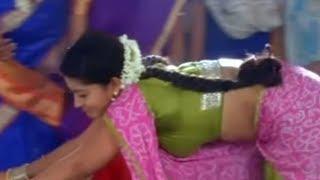 Sneha hot navel show in green saree