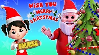 We Wish You A Merry Christmas | Xmas Music & Children Songs | Kindergarten Cartoons by Farmees