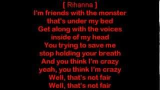 Eminem ft Rihanna - The Monster [HQ Lyrics]