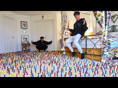 INSANE CLOTHESPIN PRANK IN PARENTS ROOM