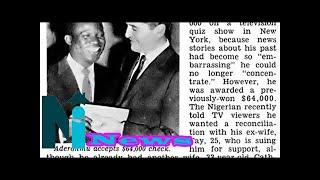 Meet Adepoju Aderonmu, the first black man to win $64,000 prize in the American CBS-TV quiz game sh