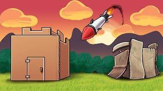Minecraft - NUCLEAR BOX FORT CHALLENGE - Nuke vs Base! (Box Fort Mod)