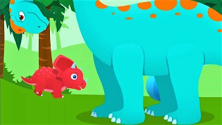 Baby Dino Explore Jurassic, Have Fun With Little Triceratops - Dinosaur Fun Video For Kids