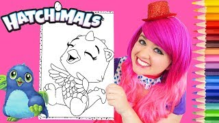 Coloring Hatchimals Draggle CollEGGtibles Coloring Page Prismacolor Pencils | KiMMi THE CLOWN