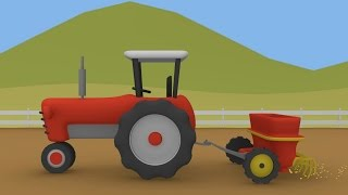 Tractor and Seeder | Animation Tractors for Children | Traktor i Siewnik | Animacje Traktory