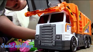 Garbage Truck TOY UNBOXING Playing: Garbage Truck Videos for Children: Legos