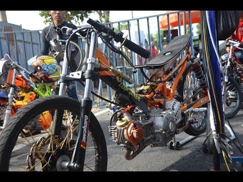 AHRS Drag Bike Jupiter TU 200 cc Pells King drag championship AHRS series 4 bantul