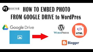 How To Embed Image In Google Drive to WordPress, Blogger, or Any HTML Pages