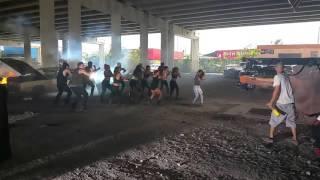 Anahi - Detras de camaras grabando el video Rumba  21 07 2015