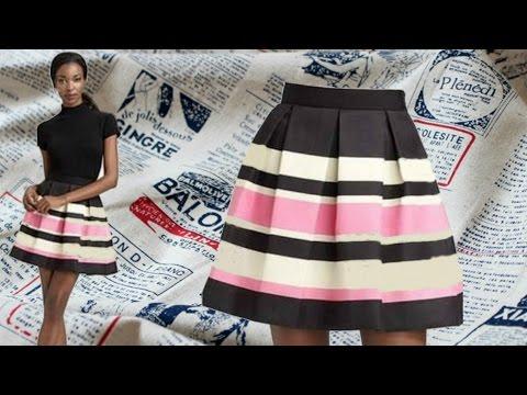 Видео как сшить юбку на резинке своими руками пошагово видео
